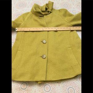 Tabitha Simmons Jackets & Coats - Anthropologie Tabitha Mustard Yellow Wool Blend